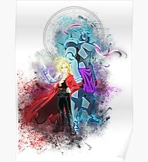 Edward & Alphonse Elric - Full Metal Alchemist Poster