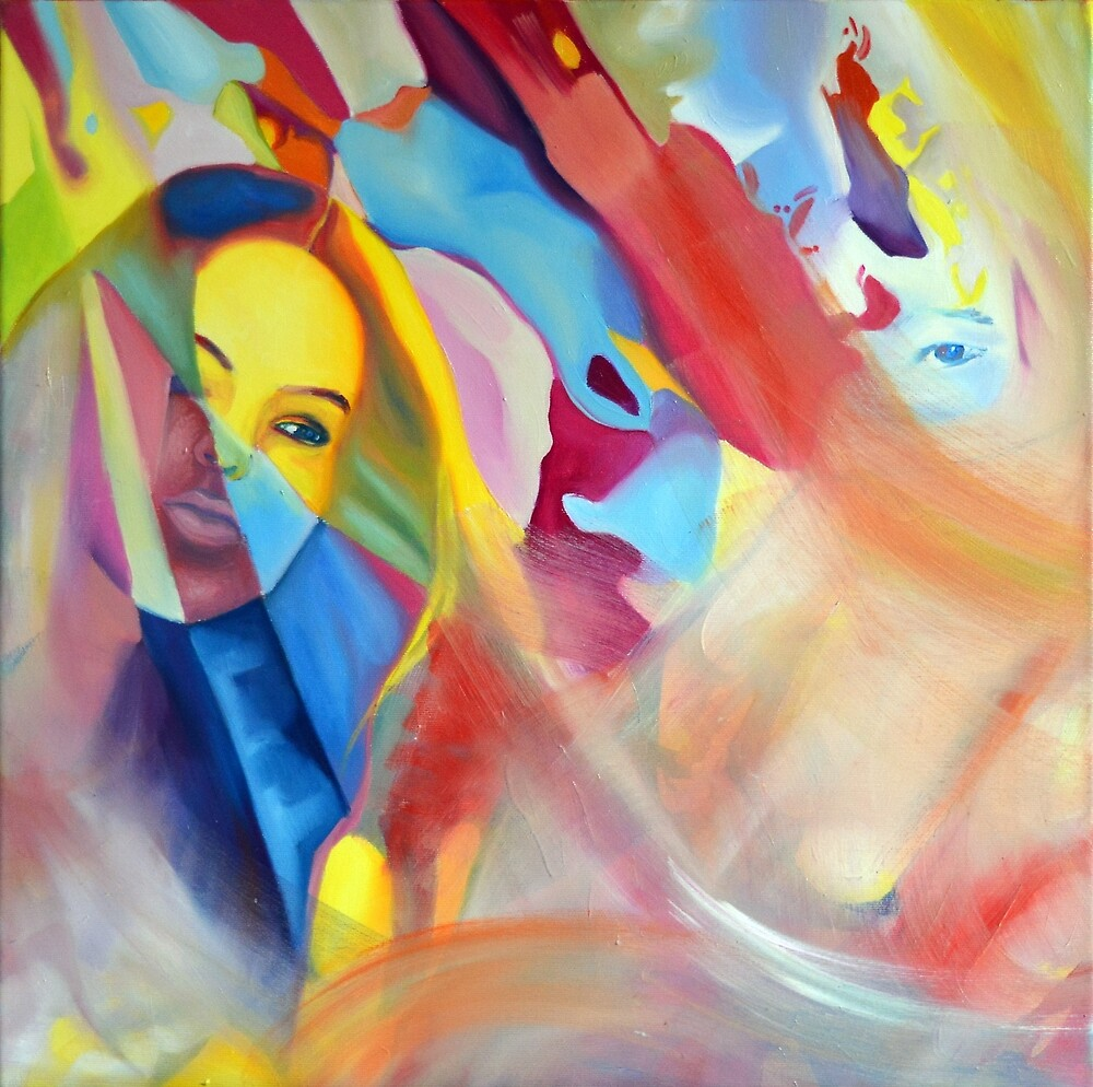 Fading Memories, 50-50cm, 2016, oil on canvas by oanaunciuleanu