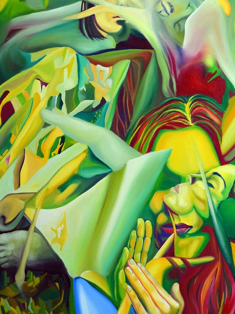 Escape To Fantasy, 120-80cm, 2016, oil on canvas by oanaunciuleanu