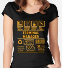TERMINAL MANAGER - NICE DESIGN 2017 Women's Fitted Scoop T-Shirt