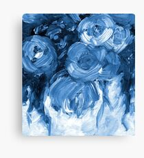 Navy Roses Oil Painting 170601 Canvas Print