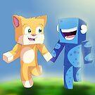 STAMPY CAT AND SQUID by craigyule