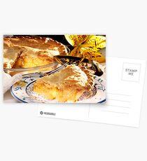 Apfelkuchen Dessert Postkarten