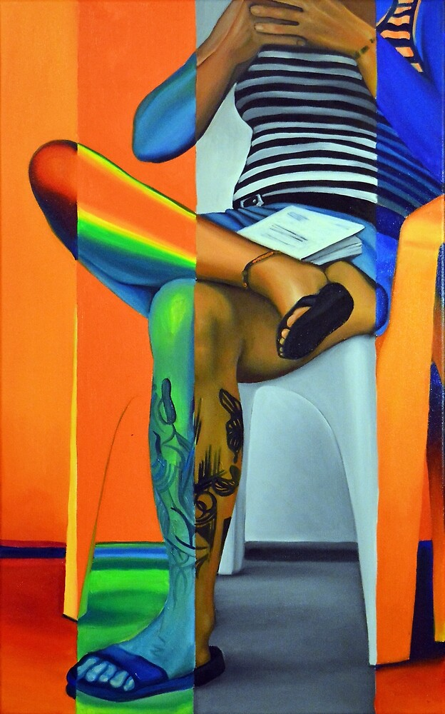 Comfortably Numb, 50-80cm, 2016, oil on canvas by oanaunciuleanu
