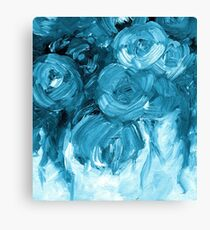 Turquoise Rose Painting 170601 Canvas Print