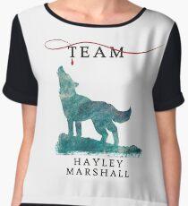 Team Hayley Marshall - The Originals  - The Vampire Diaries Chiffon Top