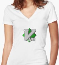 Vim - Text Editor - Since 1991 Women's Fitted V-Neck T-Shirt