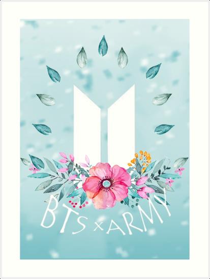 New Logo Bts X Army Art Prints By Hatsukoimin Redbubble