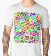 Geometric Psychedelic Mandalas Men's Premium T-Shirt