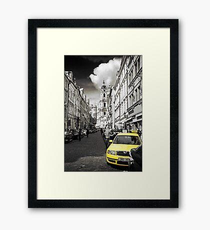 Yellow Cab Framed Print