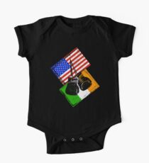 Boxing Shirt USA versus Ireland Design Kids Clothes