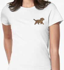 Wee little dog Womens Fitted T-Shirt