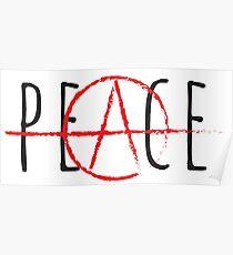 Póster Paz / Anarquía