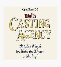Walt's Casting Agency Photographic Print