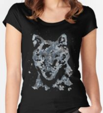 Lone Wolf Watercolor Women's Fitted Scoop T-Shirt