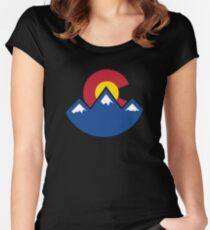 Colorado Sunset Women's Fitted Scoop T-Shirt