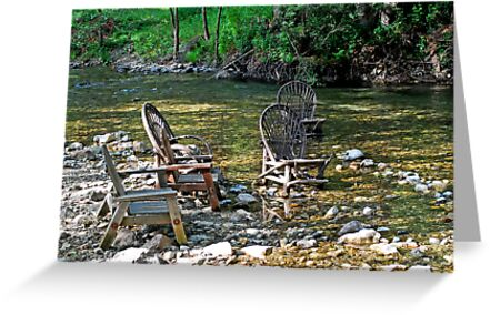 The Big Sur River Inn's Signiture Chairs by Lenny La Rue, IPA