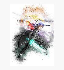 Kirito & Asuna 2 - Sword Art Online Photographic Print
