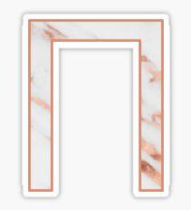 Marble / Rose Gold Pi Sticker