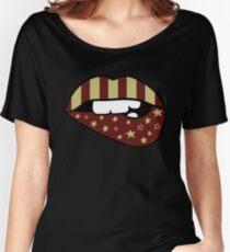 FSU Flag Lips Women's Relaxed Fit T-Shirt