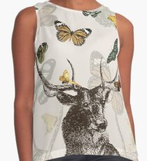 The Stag and Butterflies Contrast Tank