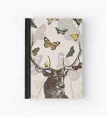 The Stag and Butterflies Hardcover Journal