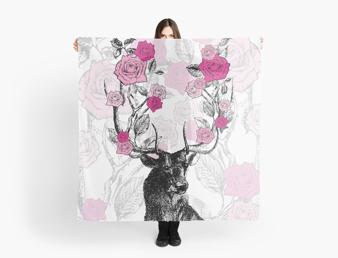 The Stag and Roses by EclecticAtHeART
