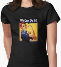 Rosie Riveter We Can Do It!   WW2 Womens Fitted T-Shirt