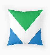 Vegan Flag (Green, White and Blue) Throw Pillow