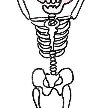 Skeleton Girl - Clear Background by pigandpumpkin