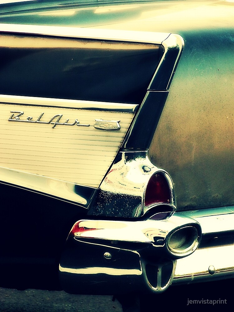 Black Bel Air vintage Chevy art photograph by jemvistaprint