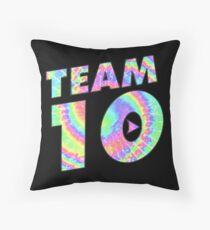 Team 10 Tie Dye Jake Paul Throw Pillow