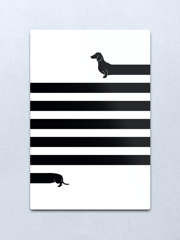 Alternate view of (Very) Long Dog Metal Print
