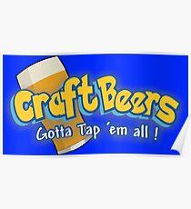 Pokemon meets craft beers Poster