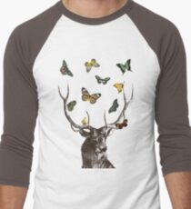 The Stag and Butterflies Men's Baseball ¾ T-Shirt