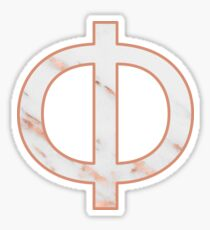 Marble / Rose Gold Phi Sticker