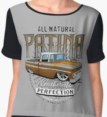 All Natural Patina Gold Women's Chiffon Top