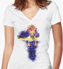 Yugioh Women's Fitted V-Neck T-Shirt