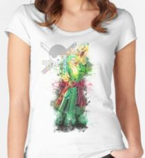 Zoro - One Piece Women's Fitted Scoop T-Shirt