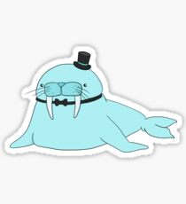 Cute Fancy Walrus Sticker