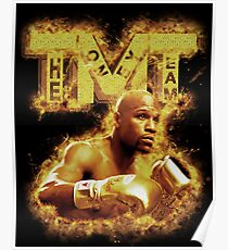 Floyd Mayweather TMT On Fire Poster