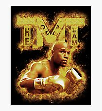 Floyd Mayweather TMT On Fire Photographic Print