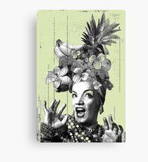 Tropical Miranda (Black & White Edition 2017) Canvas Print