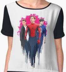 Peter Parker, drips.  Chiffon Top