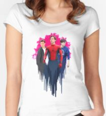 Peter Parker, drips.  Women's Fitted Scoop T-Shirt