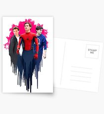Peter Parker, drips.  Postcards