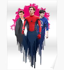 Peter Parker, drips.  Poster
