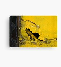 Yellow and Black Canvas Print