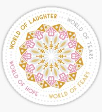 This World is Small Afterall Sticker
