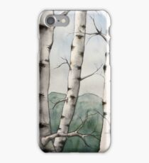 Watercolor Birch Tree Forest iPhone Case/Skin
